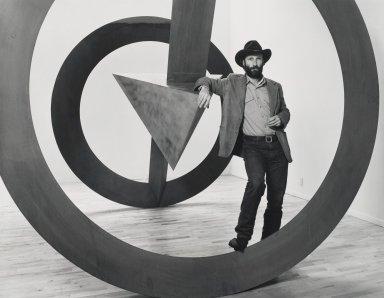 Arthur Mones (American, 1919-1998). <em>Bruce Nauman</em>, 1980. Gelatin silver photograph, 10 1/2 × 13 7/8 in. (26.7 × 35.2 cm). Brooklyn Museum, Gift of George Feher, 80.130.5. © artist or artist's estate (Photo: Brooklyn Museum, 80.130.5_PS4.jpg)