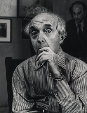 Arthur Mones (American, 1919-1998). <em>Raphael Soyer</em>, 1979. Gelatin silver photograph, 13 1/2 × 10 1/2 in. (34.3 × 26.7 cm). Brooklyn Museum, Gift of George Feher, 80.130.6. © artist or artist's estate (Photo: Brooklyn Museum, 80.130.6_PS4.jpg)