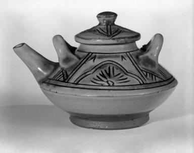 <em>Choshi</em>, ca. 1970. Glazed stoneware, 3 1/8 x 4 5/8 in. (7.9 x 11.7 cm). Brooklyn Museum, Gift of Sidney B. Cardozo, Jr., 80.175.7. Creative Commons-BY (Photo: Brooklyn Museum, 80.175.7_bw.jpg)