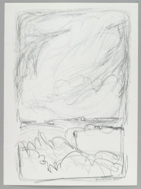 Jane Wilson (American, 1924-2015). <em>Landscape</em>, 1961. Lithograph on wove paper, Sheet: 13 1/2 x 9 13/16 in. (34.3 x 25 cm). Brooklyn Museum, Anonymous gift, 80.209.121. © artist or artist's estate (Photo: Brooklyn Museum, 80.209.121_PS4.jpg)