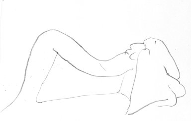 Mary Frank (American, born 1933). <em>Woman Figure</em>, 1963. Lithograph, Sheet: 9 15/16 x 12 5/8 in. (25.2 x 32.1 cm). Brooklyn Museum, Anonymous gift, 80.209.24. © artist or artist's estate (Photo: Brooklyn Museum, 80.209.24_bw.jpg)