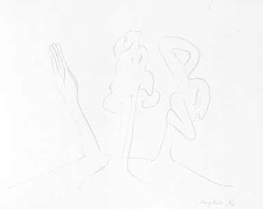 Mary Frank (American, born 1933). <em>Hand</em>, 1963. Lithograph, 9 7/8 x 12 5/8 in. (25.1 x 32.1 cm). Brooklyn Museum, Anonymous gift, 80.209.25. © artist or artist's estate (Photo: Brooklyn Museum, 80.209.25_bw.jpg)