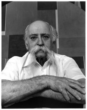 Arthur Mones (American, 1919-1998). <em>Ilya Bolotowsky</em>, 1980. Gelatin silver photograph, 13 1/2 × 10 1/2 in. (34.3 × 26.7 cm). Brooklyn Museum, Gift of Ruth Mones, 80.226.2. © artist or artist's estate (Photo: Brooklyn Museum, 80.226.2_bw.jpg)