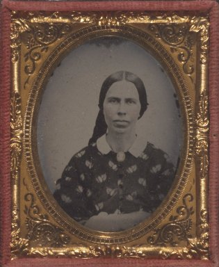 Unknown. <em>[Untitled] (Portrait of a Woman)</em>, ca. 1860. Ambrotype Brooklyn Museum, Gift of Mrs. Harold J. Roig, 80.231.2 (Photo: Brooklyn Museum, 80.231.2.jpg)