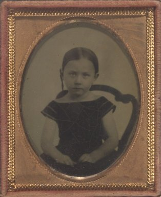 Unknown. <em>[Untitled] (Portrait of Miss Alice M. Beckwith, 5 Years Old)</em>, ca. 1850. Ambrotype Brooklyn Museum, Gift of Mrs. Harold J. Roig, 80.231.5 (Photo: Brooklyn Museum, 80.231.5.jpg)