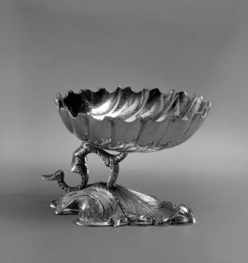 Robert Wilson (American, born 1941). <em>Salt</em>, ca. 1845. Silver with gilt, 2 × 2 3/4 × 2 5/8 in. (5.1 × 7 × 6.7 cm). Brooklyn Museum, H. Randolph Lever Fund, 80.241. Creative Commons-BY (Photo: Brooklyn Museum, 80.241_bw.jpg)