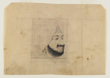 Indian. <em>Portrait of the Maharaja of Patiala</em>, early 20th century. Pencil, ink, and color on paper, sheet: 6 1/2 x 9 in.  (16.5 x 22.9 cm). Brooklyn Museum, Gift of Marilyn W. Grounds, 80.261.1 (Photo: Brooklyn Museum, 80.261.1_IMLS_PS4.jpg)