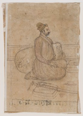 Indian. <em>Portrait of a Nobleman</em>, ca. 1780. Drawing with color and gold on paper, sheet: 4 7/8 x 3 1/4 in.  (12.4 x 8.3 cm). Brooklyn Museum, Gift of Marilyn W. Grounds, 80.261.42 (Photo: Brooklyn Museum, 80.261.42_IMLS_PS4.jpg)