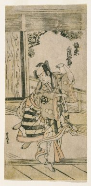 Utagawa Toyomaru (Japanese, active 1785-1797). <em>Actor Dancing the Fox Dance</em>, ca. 1780. Color woodblock print on paper, 11 1/8 x 5 3/8 in. (28.3 x 13.7 cm). Brooklyn Museum, Gift of Dr. William E. Harkins, 80.264.2 (Photo: Brooklyn Museum, 80.264.2_print_IMLS_SL2.jpg)