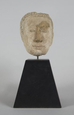 <em>Head of a Buddha</em>, ca. 16th century. Stucco, exclusive of stand: 5 x 3 3/4 in. (12.7 x 9.5 cm). Brooklyn Museum, Gift of J. Russell Wherritt, 80.284.2. Creative Commons-BY (Photo: Brooklyn Museum, 80.284.2_PS5.jpg)