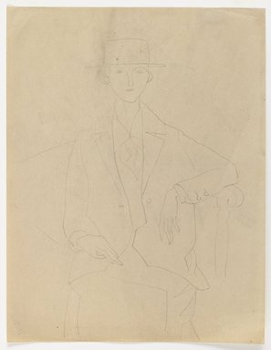 Marguerite Thompson Zorach (American, 1887-1968). <em>Marianne Moore</em>, ca. 1925. Graphite on beige colored, medium weight, smooth, wove paper, Sheet: 11 x 8 1/2 in. (27.9 x 21.6 cm). Brooklyn Museum, Gift of Mr. and Mrs. Tessim Zorach, 80.87. © artist or artist's estate (Photo: Brooklyn Museum, 80.87_IMLS_PS3.jpg)