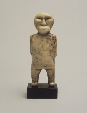 Native Alaskan. <em>Figure</em>, 19th century. Ivory, 4 1/8 x 1 1/2 x 1 1/8 in. (10.5 x 3.8 x 2.8 cm). Brooklyn Museum, Gift of Cynthia Hazen Polsky, 80.98.1. Creative Commons-BY (Photo: Brooklyn Museum, 80.98.1.jpg)