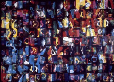 Susan Kaprov (American, born 1949). <em>20th Century Dilemma I</em>, 1980-1981. Color xerox on rag-board, mounted on aluminum, overall: 121 1/2 × 168 1/2 in. (308.6 × 428 cm). Brooklyn Museum, Designated Purchase Fund, 81.13a-f. © artist or artist's estate (Photo: Brooklyn Museum, 81.13_slide_SL3.jpg)
