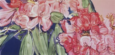 Gary Alan Bukovnik (American, born 1947). <em>Rhododendrum</em>, 1980. Lithograph on paper, Image: 30 3/8 x 22 7/16 in. (77.2 x 57 cm). Brooklyn Museum, Gift of the artist, 81.15.2. © artist or artist's estate (Photo: Brooklyn Museum, 81.15.2_transpc002.jpg)