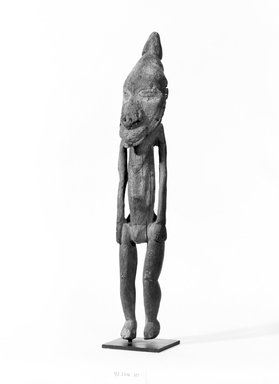 Iatmul. <em>Male Ancestor Figure</em>. Wood, 20 in. (50.8 cm). Brooklyn Museum, Gift of Mrs. Melville W. Hall, 81.164.10. Creative Commons-BY (Photo: Brooklyn Museum, 81.164.10_bw.jpg)