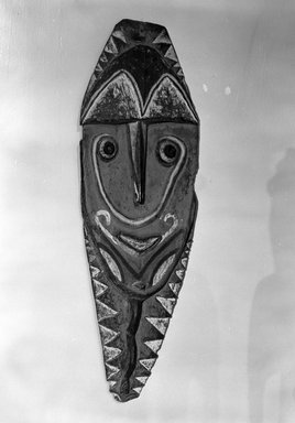 Warasei. <em>Mindja Carving</em>, early 20th century. Wood, pigment, 53 x 17 1/4 x 2 1/2 in. (134.6 x 43.8 x 6.4 cm). Brooklyn Museum, Gift of Mrs. Melville W. Hall, 81.164.7. Creative Commons-BY (Photo: Brooklyn Museum, 81.164.7_bw.jpg)