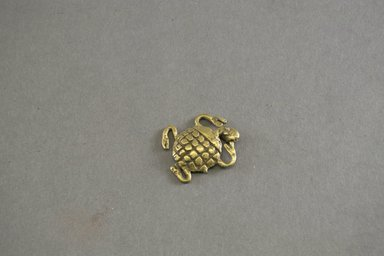 Akan. <em>Gold-weight (abrammuo): tortoise</em>, 19th-20th century. Copper alloy, length: 1 5/8 in. (4.1 cm). Brooklyn Museum, Gift of Mr. and Mrs. Arnold Syrop, 81.168.5. Creative Commons-BY (Photo: Brooklyn Museum, 81.168.5_front_PS5.jpg)
