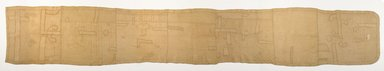 Kuba. <em>Woman's Skirt (nshak or ncak)</em>, before 1914. Raffia, applique, Overall: 25 1/2 x 158 1/2 in. (64.8 x 402.6 cm). Brooklyn Museum, Purchased with funds given by Mr. and Mrs. Milton F. Rosenthal, 81.169. Creative Commons-BY (Photo: Brooklyn Museum, 81.169_PS9.jpg)