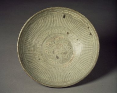 <em>Bowl</em>, first half of 15th century. Buncheong ware, stoneware with underglaze slip decoration, Height: 2 5/8 in. (6.6 cm). Brooklyn Museum, Gift of Kaywin Lehman Smith, 81.207.1. Creative Commons-BY (Photo: Brooklyn Museum, 81.207.1.jpg)