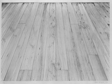 Sylvia Plimack Mangold (American, born 1938). <em>Floor II</em>, 1974. Lithograph on paper, sheet: 29 3/4 x 37 1/4 in. (75.6 x 94.6 cm). Brooklyn Museum, Gift of Alex Katz, 81.236.6. © artist or artist's estate (Photo: Brooklyn Museum, 81.236.6_bw.jpg)