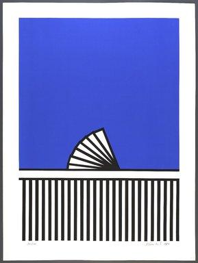Nicholas Krushenick (American, 1929-1999). <em>Kennebunkport</em>, 1980. Screenprint, Sheet: 40 3/4 x 30 3/16 in. (103.5 x 76.7 cm). Brooklyn Museum, Gift of Irwin Shubert, 81.243.16. © artist or artist's estate (Photo: Brooklyn Museum, 81.243.16_PS9.jpg)