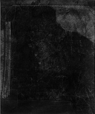 Dove Bradshaw (American, born 1949). <em>Without Title [Carbon Removal]</em>, ca. 1981. Carbon paper on paperboard, image: 4 7/8 x 4 in. (12.4 x 10.2 cm). Brooklyn Museum, Gift of William Anastasi, 81.256.1. © artist or artist's estate (Photo: Brooklyn Museum, 81.256.1_bw.jpg)