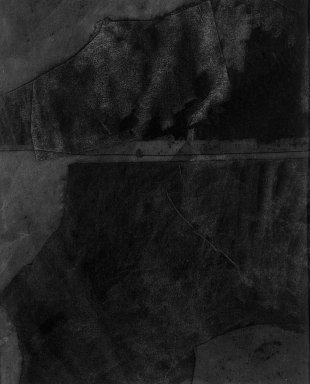 Dove Bradshaw (American, born 1949). <em>Without Title [Carbon Removal]</em>, ca. 1981. Carbon paper on paperboard, image: 6 1/8 x 5 in. (15.6 x 12.7 cm). Brooklyn Museum, Gift of William Anastasi, 81.256.2. © artist or artist's estate (Photo: Brooklyn Museum, 81.256.2_bw.jpg)
