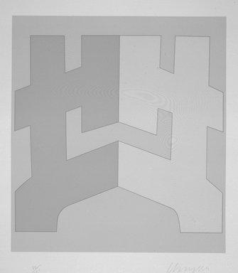 Chryssa (American, born Greece, 1933-2014). <em>[Untitled]</em>, 1980. Silkscreen, Sheet: 31 1/2 x 28 1/8 in. (80 x 71.4 cm). Brooklyn Museum, Gift of Dr. Richard Bassin, 81.257.9b. © artist or artist's estate (Photo: Brooklyn Museum, 81.257.9b_bw.jpg)