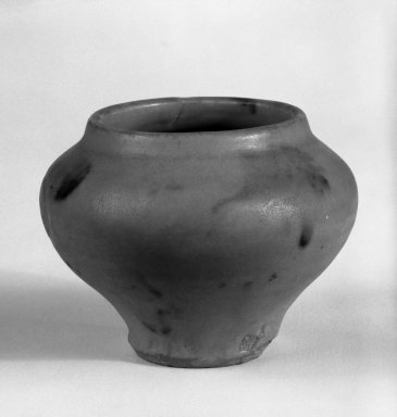 <em>Jarlet</em>, 14th century. Celadon (ceramic), 2 3/8 x 3 1/4 in. (6 x 8.3 cm). Brooklyn Museum, Gift of Dr. Jerome Krieger, 81.289.21. Creative Commons-BY (Photo: Brooklyn Museum, 81.289.21_cropped_bw.jpg)