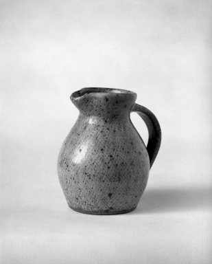 Shimaoka Tatsuzo (Japanese, 1919-2007). <em>Shimaoka Tatsuzo, Small Pitcher</em>, ca. 1960. stoneware, 4 x 3 in. (10.2 x 7.6 cm). Brooklyn Museum, Gift of Dr. John P. Lyden, 81.296.4. Creative Commons-BY (Photo: Brooklyn Museum, 81.296.4_bw.jpg)