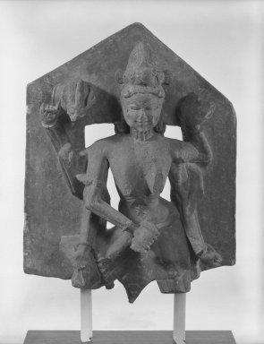 <em>Camunda</em>, ca. 10th century., 16 x 12 1/4 in. (40.6 x 31.1 cm). Brooklyn Museum, Gift of William Wolff, 81.303.1. Creative Commons-BY (Photo: Brooklyn Museum, 81.303.1_bw.jpg)