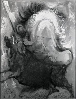 Byron Browne (American, 1907-1961). <em>Picador</em>, 1959. Oil on canvas, Canvas: 18 1/8 x 14 in. (46 x 35.6 cm). Brooklyn Museum, Gift of Frances Small, 81.310. © artist or artist's estate (Photo: Brooklyn Museum, 81.310.jpg)