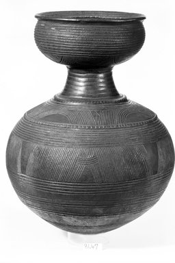 <em>Vessel</em>. Terracotta Brooklyn Museum, Purchased with funds given by Mr. and Mrs. Milton F. Rosenthal and Exxon, 81.47. Creative Commons-BY (Photo: Brooklyn Museum, 81.47_bw.jpg)