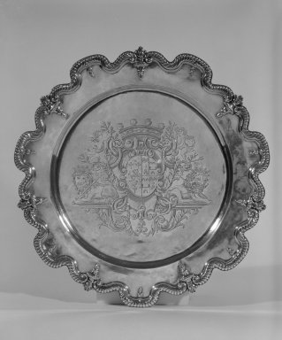 Pierre Harache. <em>Charger</em>. Silver Brooklyn Museum, Bequest of Donald S. Morrison, 81.54.49. Creative Commons-BY (Photo: Brooklyn Museum, 81.54.49_bw.jpg)