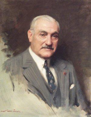 Everett Raymond Kinstler (American, 1926-2019). <em>Portrait of Edward C. Blum</em>, 1981. Oil on canvas, 35 x 32 in. (88.9 x 81.3 cm) framed. Brooklyn Museum, Gift of Robert E. Blum, 81.62. © artist or artist's estate (Photo: Brooklyn Museum, 81.62.jpg)