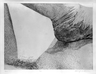 Kay Bradner (American, born 1947). <em>Heel</em>, 1978. Etching on paper, Sheet: 22 1/4 x 29 13/16 in. (56.5 x 75.7 cm). Brooklyn Museum, Gift of the artist, 81.68.2. © artist or artist's estate (Photo: Brooklyn Museum, 81.68.2_bw.jpg)