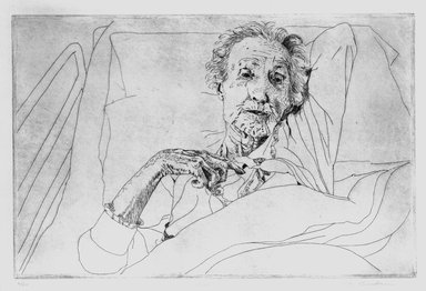 Kay Bradner (American, born 1947). <em>Claire</em>, 1974. Etching on paper, Image: 7 11/16 x 17 11/16 in. (19.5 x 45 cm). Brooklyn Museum, Gift of the artist, 81.68.4. © artist or artist's estate (Photo: Brooklyn Museum, 81.68.4_bw.jpg)