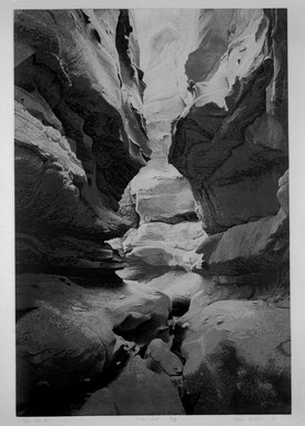 Stephen McMillan (American, born 1949). <em>The Slot #7</em>, 1979. Aquatint etching (3 plates) on paper, sheet: 41 1/2 x 29 1/2 in. (105.4 x 74.9 cm). Brooklyn Museum, Gift of Katherine Lincoln Press, 81.74.3. © artist or artist's estate (Photo: Brooklyn Museum, 81.74.3_bw.jpg)