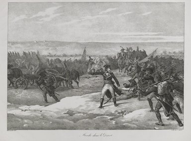 Théodore Géricault (French, 1791-1829). <em>Marche Dans Le Desert</em>, 1823. Lithograph on wove paper, Image: 11 7/16 x 15 13/16 in. (29 x 40.1 cm). Brooklyn Museum, A. Augustus Healy Fund, 81.82.1 (Photo: Brooklyn Museum, 81.82.1_PS6.jpg)