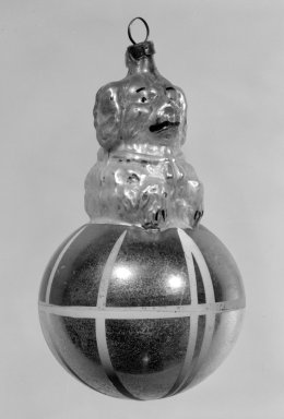 American. <em>Christmas Tree Ornament</em>, 19th century. Glass, 4 x 2 1/2 x 2 1/2 in. (10.2 x 6.4 x 6.4 cm). Brooklyn Museum, Gift of Fred Tannery, 82.112.1. Creative Commons-BY (Photo: Brooklyn Museum, 82.112.1_bw.jpg)