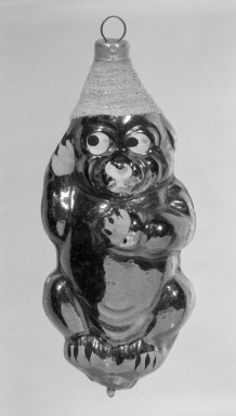 American. <em>Christmas Tree Ornament</em>, 20th century. Glass, 4 1/2 x 2 x 2 in. (11.4 x 5.1 x 5.1 cm). Brooklyn Museum, Gift of Fred Tannery, 82.112.4. Creative Commons-BY (Photo: Brooklyn Museum, 82.112.4_bw.jpg)