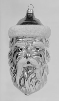 American. <em>Christmas Tree Ornament</em>, 20th century. Glass, 4 1/4 x 2 1/8 x 2 1/8 in. (10.8 x 5.4 x 5.4 cm). Brooklyn Museum, Gift of Fred Tannery, 82.112.5. Creative Commons-BY (Photo: Brooklyn Museum, 82.112.5_bw.jpg)