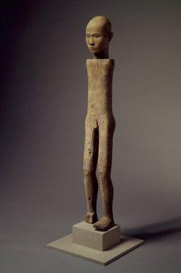 Sa'dan Toraja. <em>Male Funerary Figure (Tau-tau, Bombo di Kita)</em>, 20th century. Wood, 57 x 7 1/2 x 7 in. (144.8 x 19.1 x 17.8 cm). Brooklyn Museum, Purchased with funds given by Frieda and Milton F. Rosenthal, 82.11a-b. Creative Commons-BY (Photo: Brooklyn Museum, 82.11a-b.jpg)