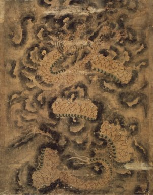 <em>Dragon in Clouds</em>, 18th century. Ink and light color on paper, 35 3/8 x 27 1/4 in.  (89.9 x 69.2 cm). Brooklyn Museum, 82.133 (Photo: Brooklyn Museum, 82.133.jpg)