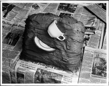 Zeke Berman (American, born 1951). <em>Current Events Series, Wrenched Cup A</em>, 1981. Gelatin silver photograph, image: 10 1/2 x 13 1/2 in. (26.7 x 34.3 cm). Brooklyn Museum, Gift of the artist, 82.136.1. © artist or artist's estate (Photo: Brooklyn Museum, 82.136.1_bw.jpg)