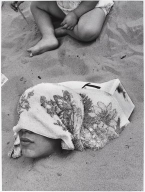 Harry Lapow (American, 1909-1982). <em>Untitled (Buried Alive)</em>, 1973. Gelatin silver photograph, sheet: 14 x 10 15/16 in. (35.6 x 27.8 cm). Brooklyn Museum, Gift of the artist, 82.148.6. © artist or artist's estate (Photo: Brooklyn Museum, 82.148.6_PS9.jpg)