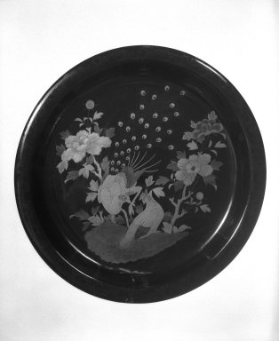 <em>Tray</em>. Lacquer, 2 1/4 x 15 in. (5.7 x 38.1 cm). Brooklyn Museum, Gift of Robert S. Anderson, 82.171.3. Creative Commons-BY (Photo: Brooklyn Museum, 82.171.3_bw.jpg)
