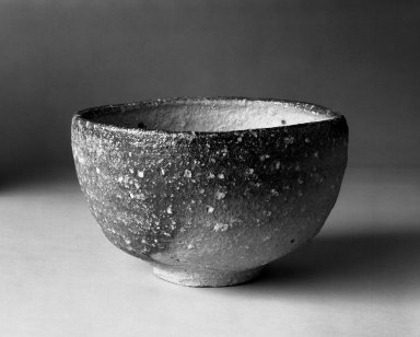 Otani Shiro (Japanese, born 1936). <em>Tea Bowl</em>, 1980. Stoneware, Shigaraki ware, 3 1/4 x 5 1/4 in. (8.3 x 13.3 cm). Brooklyn Museum, Gift of Robert S. Anderson, 82.171.7. Creative Commons-BY (Photo: Brooklyn Museum, 82.171.7_bw.jpg)