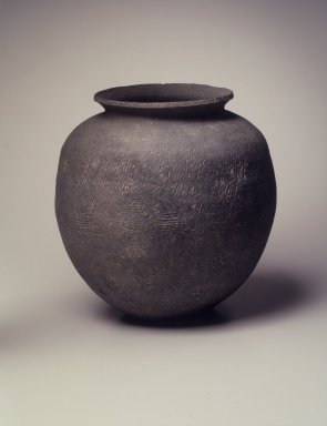 <em>Jar</em>, 5th century. Stoneware, Height: 10 3/16 in. (25.8 cm). Brooklyn Museum, Gift of Robert S. Anderson, 82.171.8. Creative Commons-BY (Photo: Brooklyn Museum, 82.171.8.jpg)