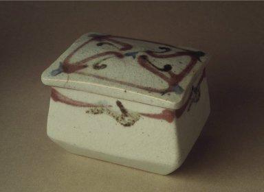 Kawai Kanjiro (Japanese, 1890-1966). <em>Stoneware Box with Lid</em>, ca. 1935. Stoneware, 3 1/2 x 3 5/8 x 4 3/4 in. (8.9 x 9.2 x 12.1 cm). Brooklyn Museum, Gift of Dr. Kenneth Rosenbaum, 82.188.1a-b. Creative Commons-BY (Photo: Brooklyn Museum, 82.188.1a-b.jpg)